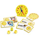 Learning Resources Time Activity Set, Homeschool, Analog Clock, Tactile Learning, 41 Pieces, Ages 5+