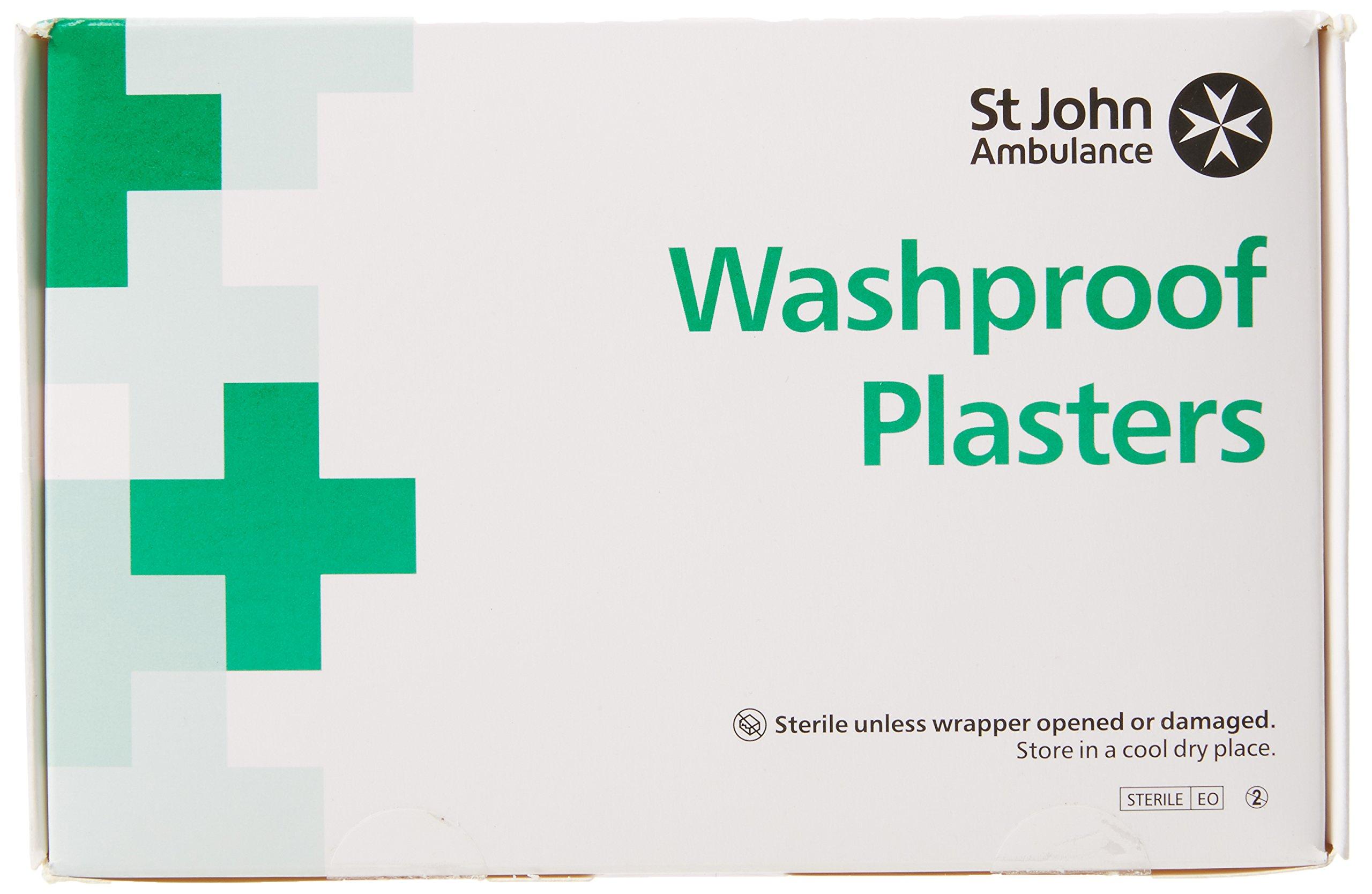 St John Ambulance 7.5x2.5cm Wash Proof Plasters - Pack of 100