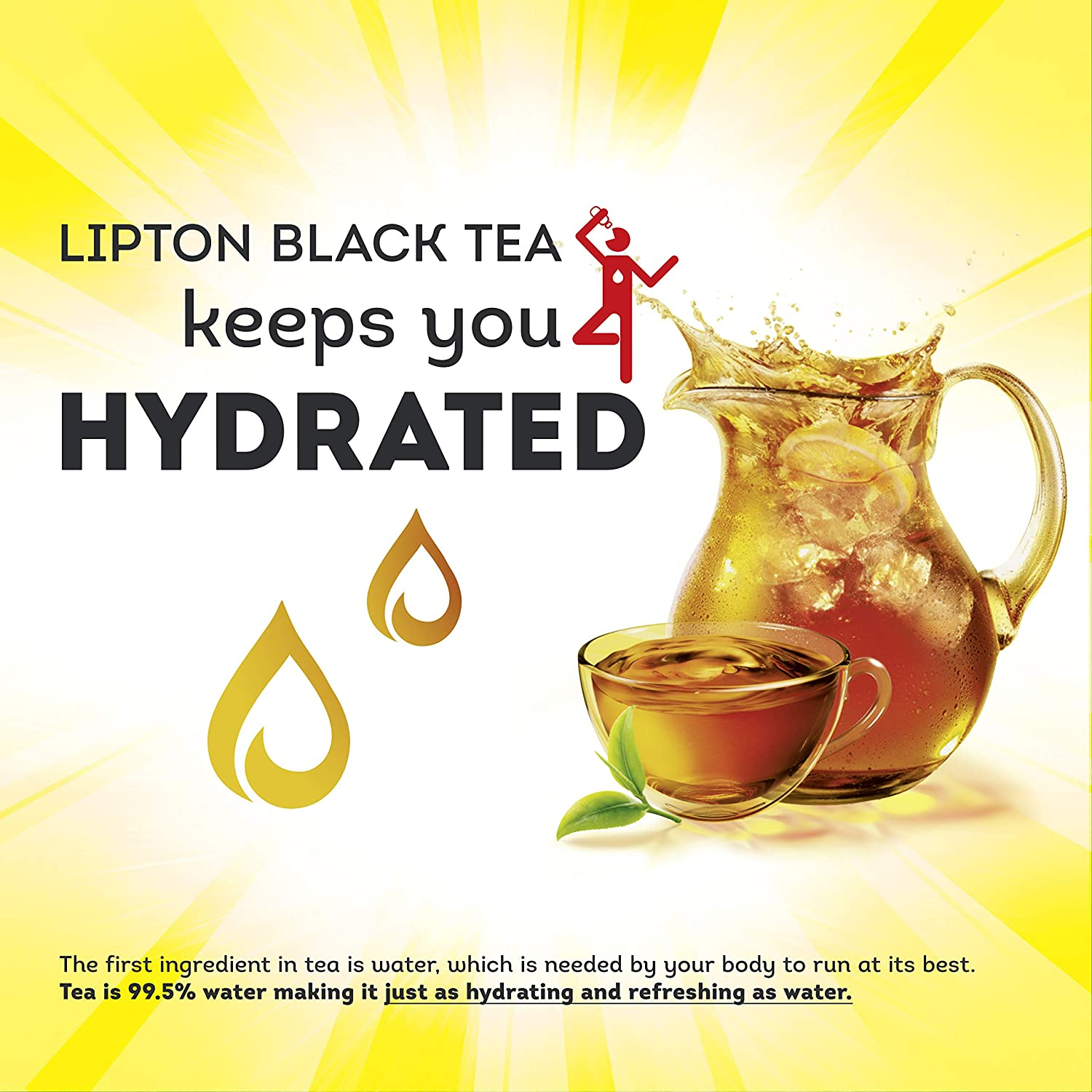Lipton Tea Bags For A Naturally Smooth Taste Black Tea Can Help Support a Healthy Heart 8 oz 100 Count, Pack of 6
