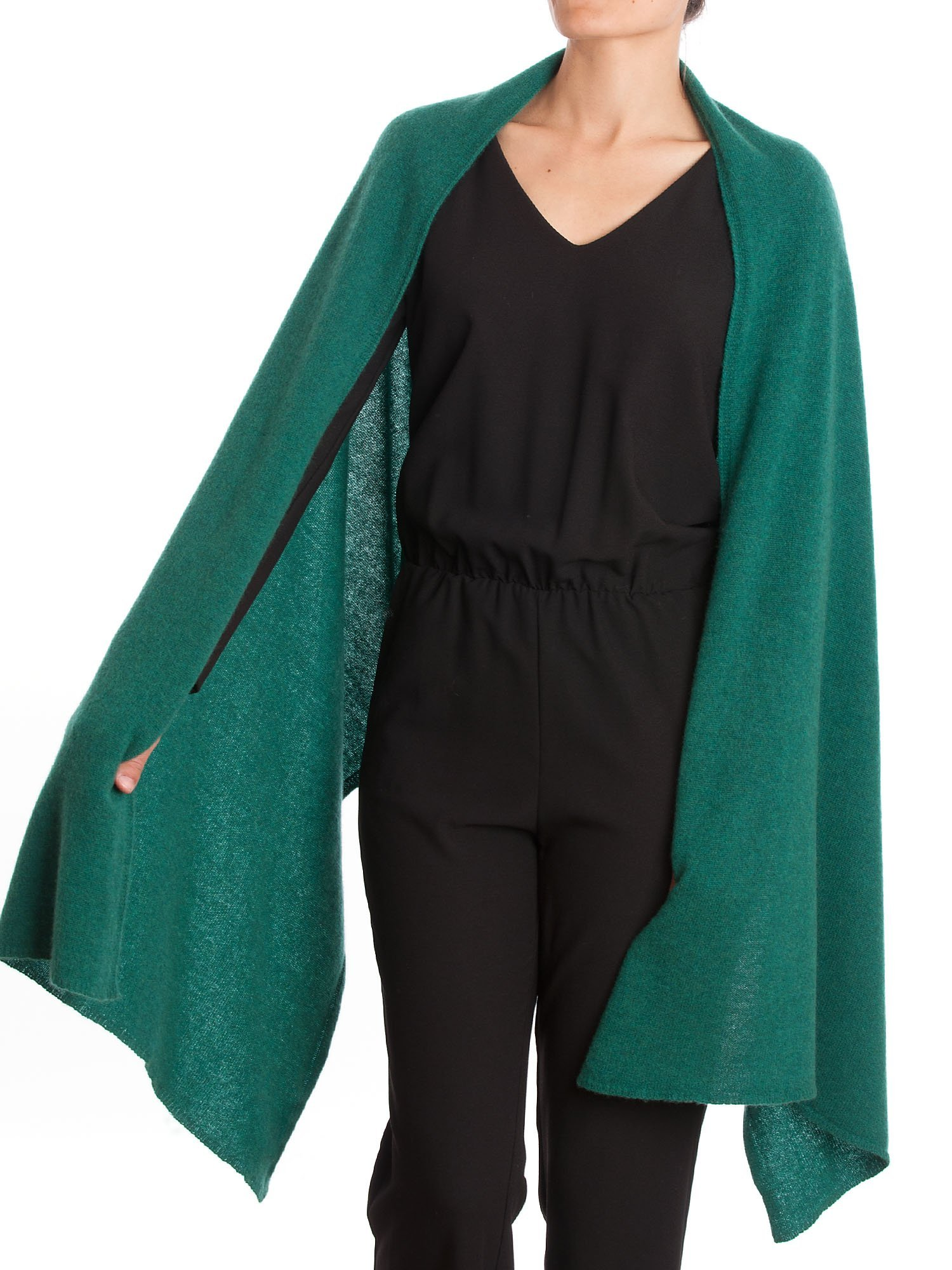 Dalle Piane Cashmere - Stole 100% cashmere - Made in Italy, Color: Green, One size