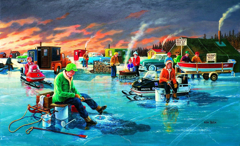 SunsOut Fishing Contest 550 Piece Jigsaw Puzzle