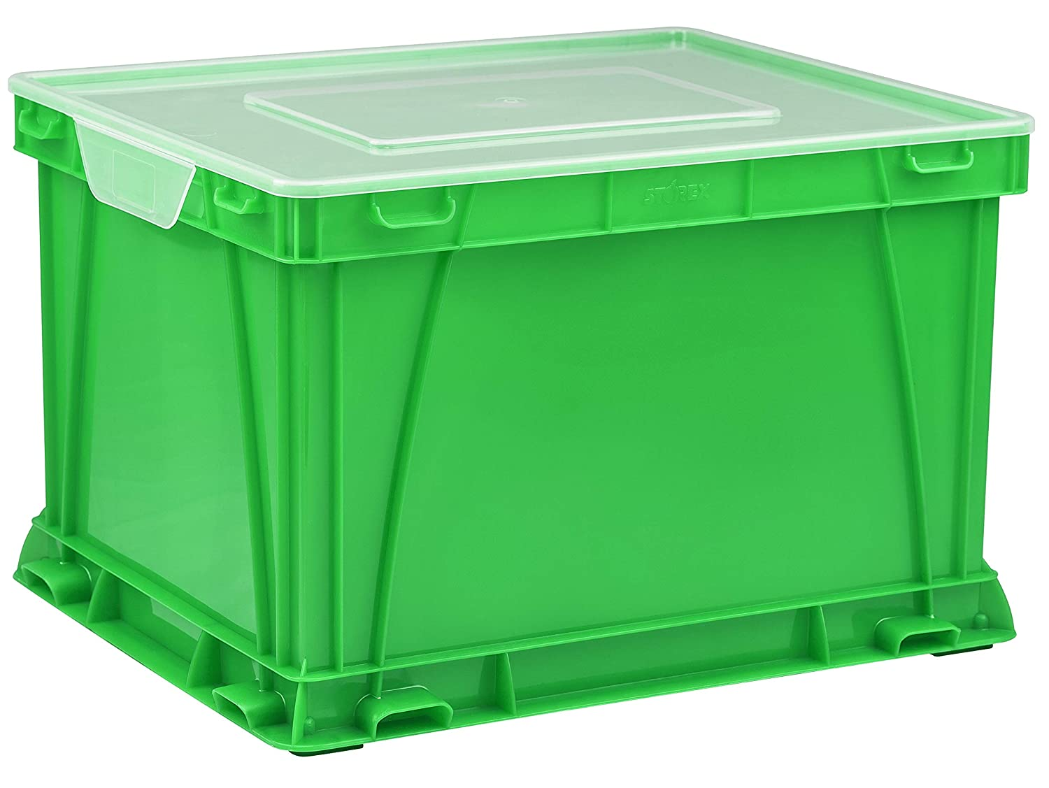 Black//Clear STX62005U03C Case of 3 Storex Storage and Filing Cube 17.25 x 14.25 x 10.5 Inches