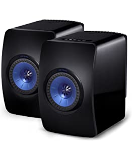 kef egg speakers. kef ls50w powered music system - gloss black/blue (pair) kef egg speakers m