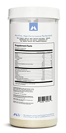 ArcFire Grass-Fed Whey Protein Isolate, 14 Servings Per Jar for Strength Recovery Post-Workout Protien Powder, Gluten-Free, NSF Certified – Momentous Orange Creme