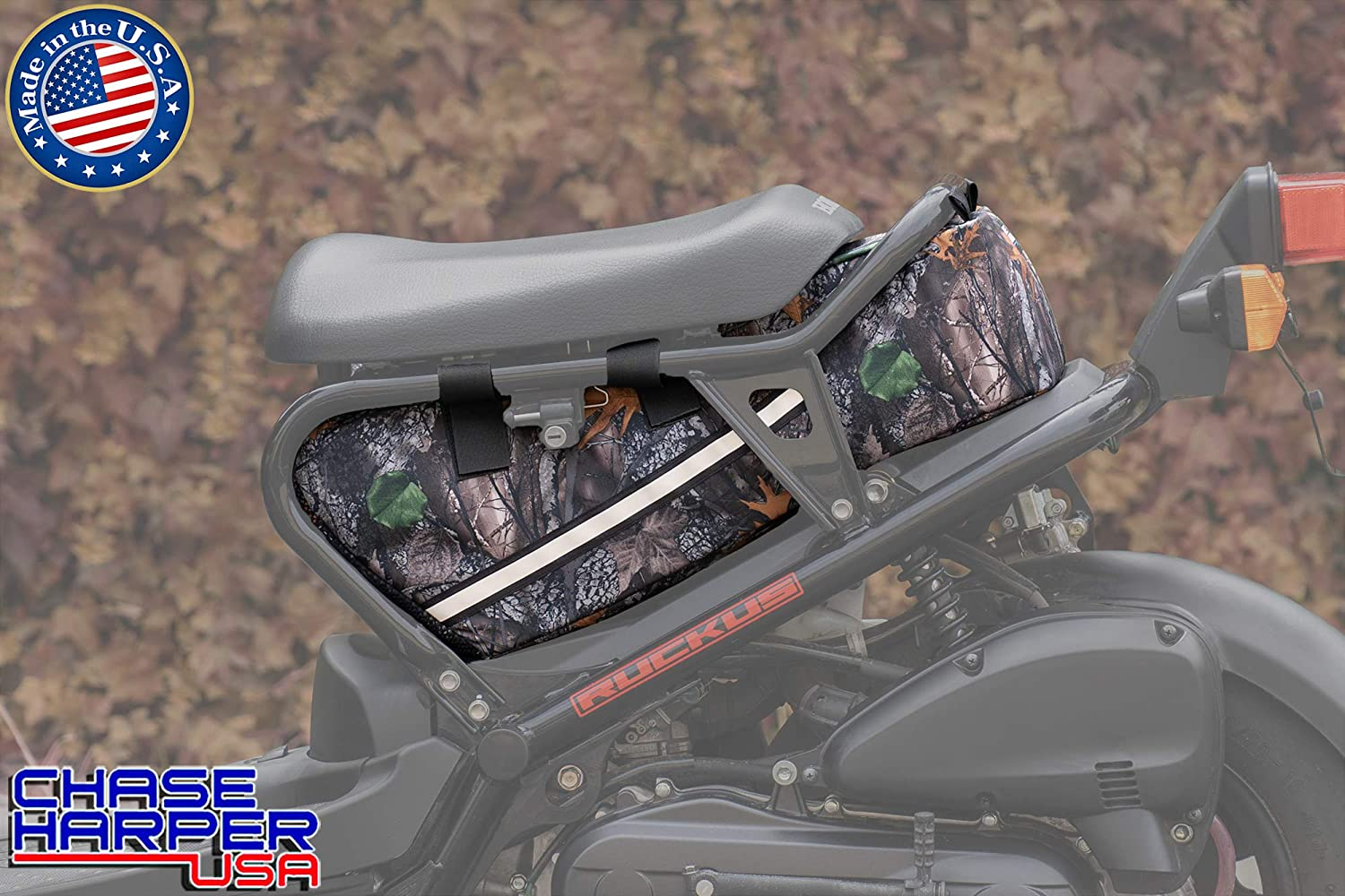 23 Liters of Storage Backwoods Camo Water-Resistant Industrial Grade Ballistic Nylon with Hook and Loop Secure Straps Chase Harper USA 5000 Ruckus Under the Seat Bag Tear-Resistant