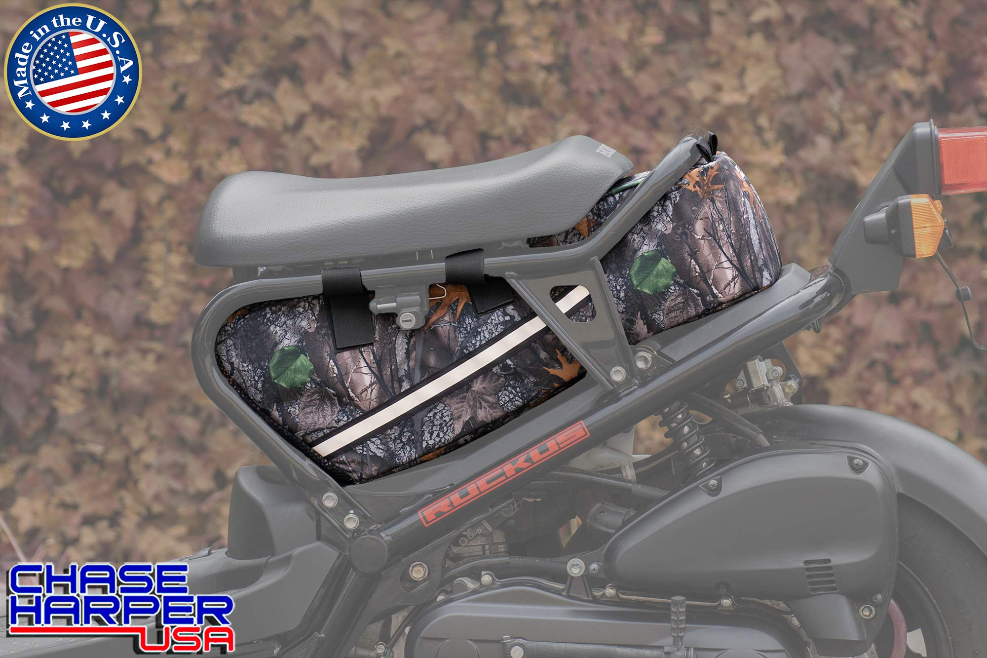 Chase Harper USA 5000 Ruckus Under the Seat Bag - Water-Resistant, Tear-Resistant, Industrial Grade Ballistic Nylon with Hook and Loop Secure Straps, 23 Liters of Storage - Backwoods Camo by Chase Harper USA