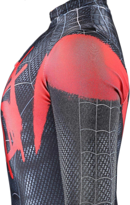 Bailu Halloween Cosplay Suit Unisex Spider Costume Bodysuit Dress Up Superhero Pretend Play