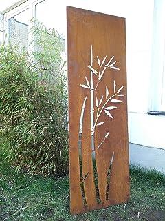 Amazon De Garten Sichtschutz Aus Metall Rost Gartenzaun Mit