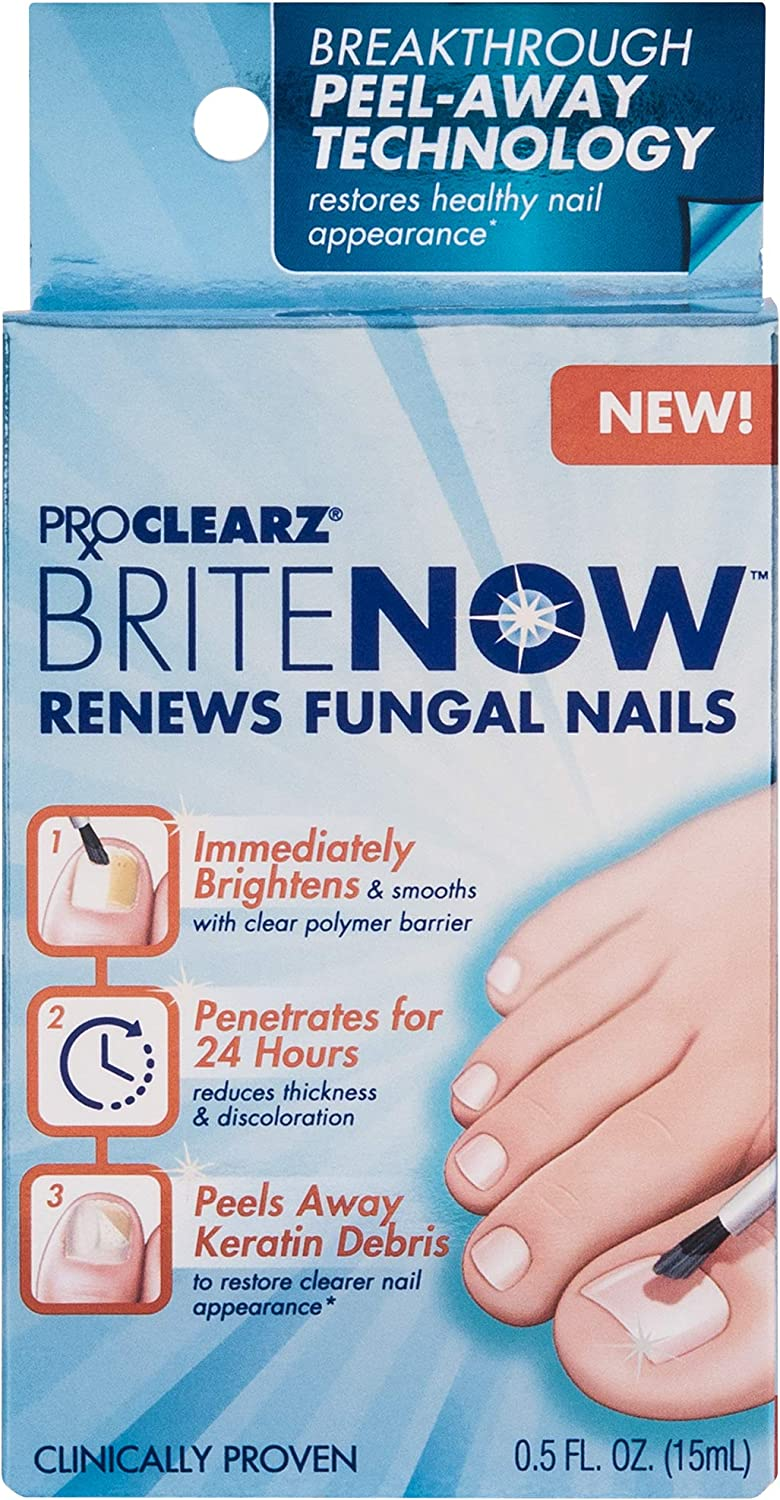 PROCLEARZ Brite Now, Clinically Proven, Breakthrough Technology! Peels Away Keratin Debris, 0.5 Ounce