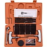 WYNNsky Tire Repair Tools Kit To Fix Tubeless Punctures and Plug- 54 Piece Heavy Duty Set For Motorcycle, ATV, Jeep, Truck, Tractor Flat Tire Puncture Repair