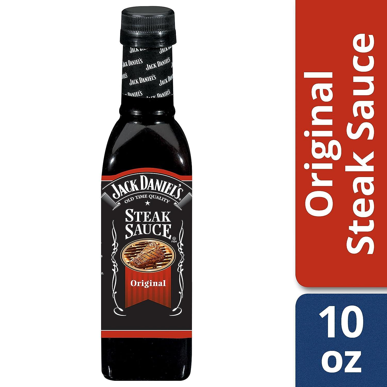 Amazon.com : Jack Daniels Steak Sauce, Original, 10-Ounce Glass Bottle (Pack of 6) : Steak Sauce Condiments : Grocery & Gourmet Food