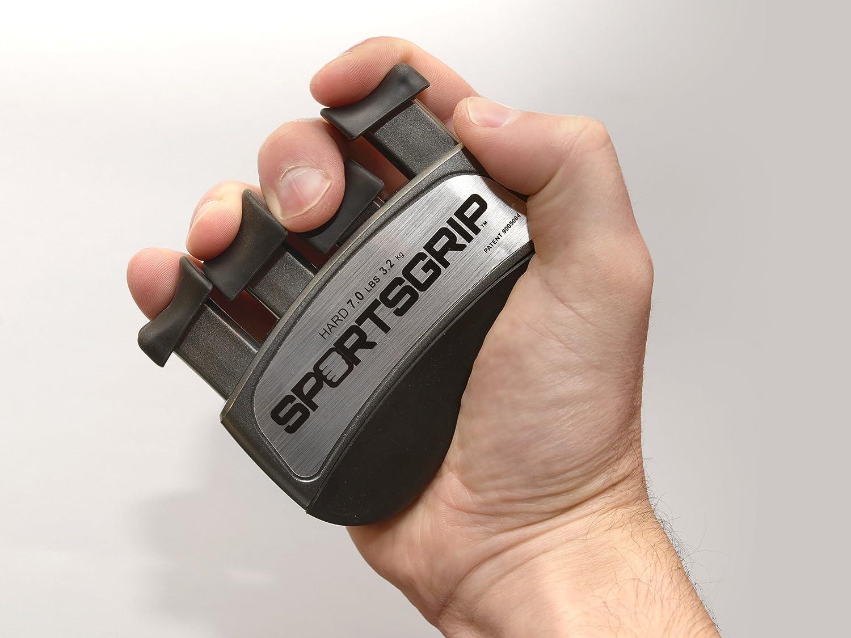 Best Ergonomic Finger Strengthener to Improve Grip for All Sport Athletes Hard - 7lbs // 3.2kg SPORTSGRIP Hand and Finger Exerciser