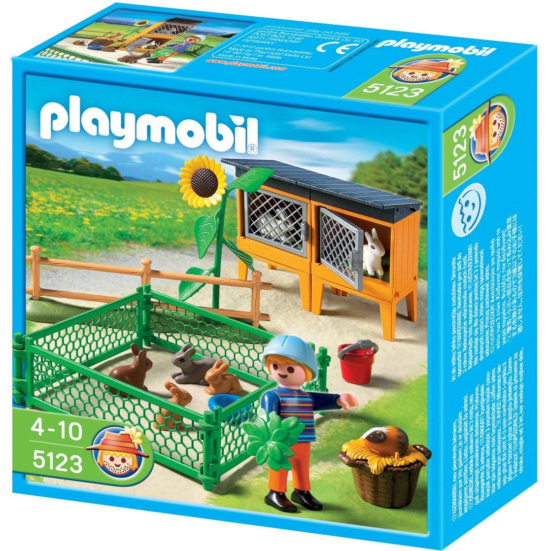 Playmobil - Granja conejos con corral (626605): Amazon.es: Juguetes y juegos
