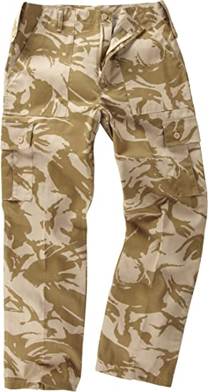 CAMOUFLAGED COMBAT ARMY CARGO TROUSERS SIZE  42  desert