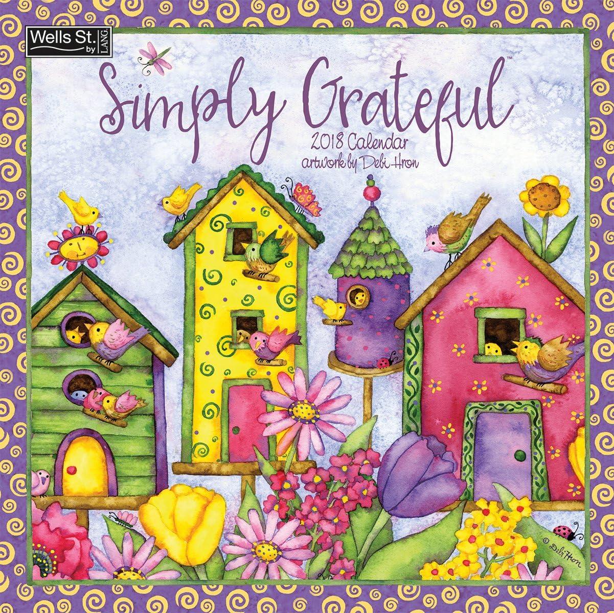 The LANG Companies WSBL Simply Grateful 2018 12X12 Wall Calendar Office Wall Calendar (18997001728)