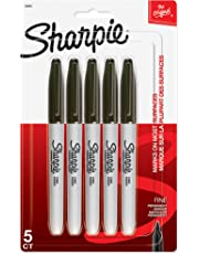 Sharpie FINE POINT Marker Permanent, Permanent Marker Fine, 5-Carded, Black Ink (30665PP)