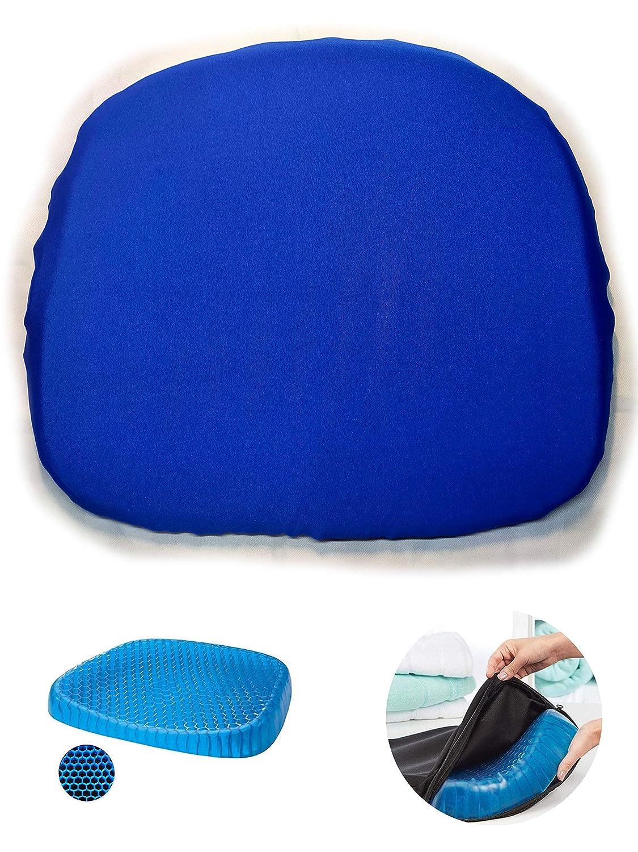 Cojín De Coxis Ortopédico con Gel Almohada De Cintura En Gel. Reversible, funda extraíble hipoalérgena lavable