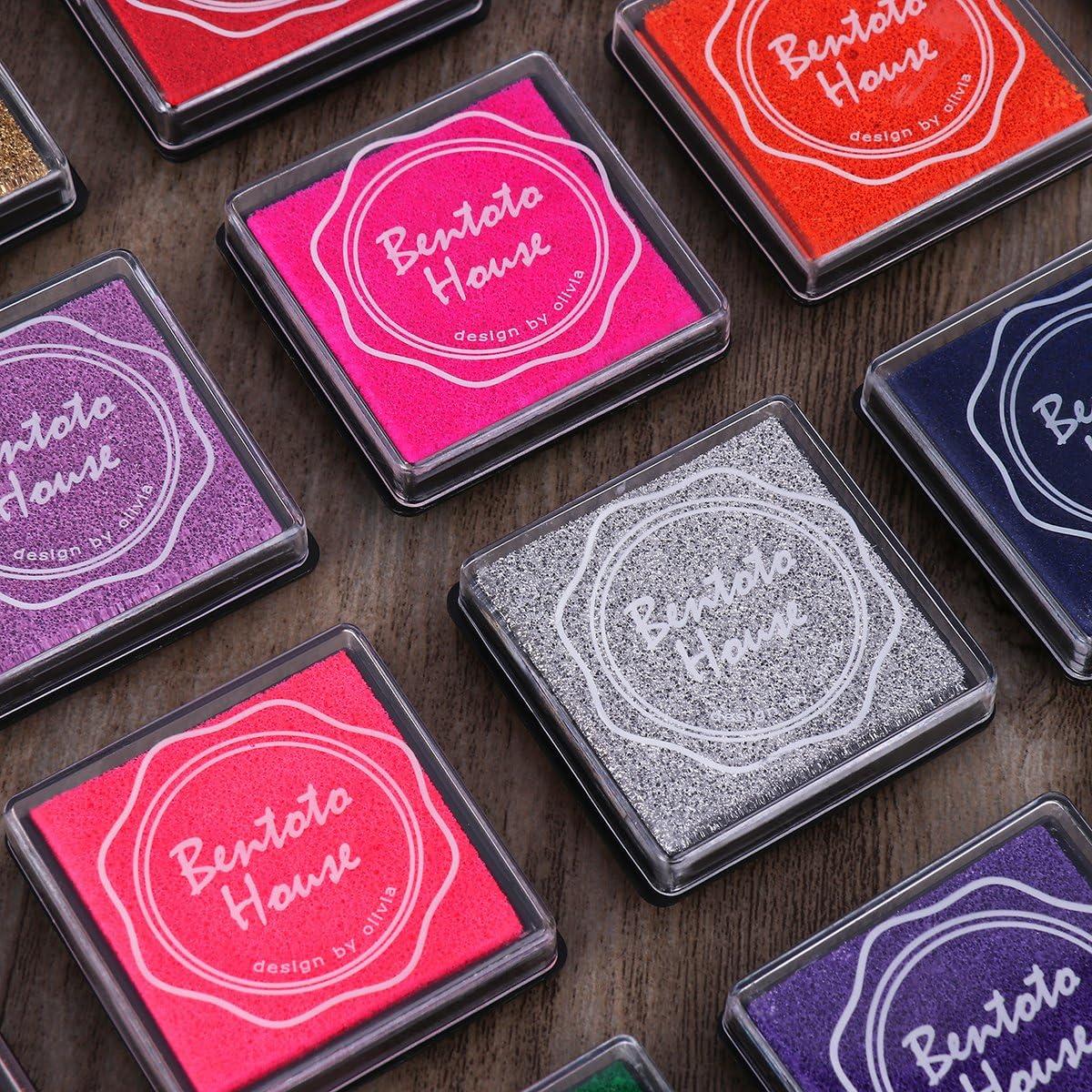 Supvox 20pcs Almohadillas de Tinta Almohadillas de estampaci/ón Almohadilla de Tinta Conjunto DIY Craft Scrapbooking Pintura de Dedos