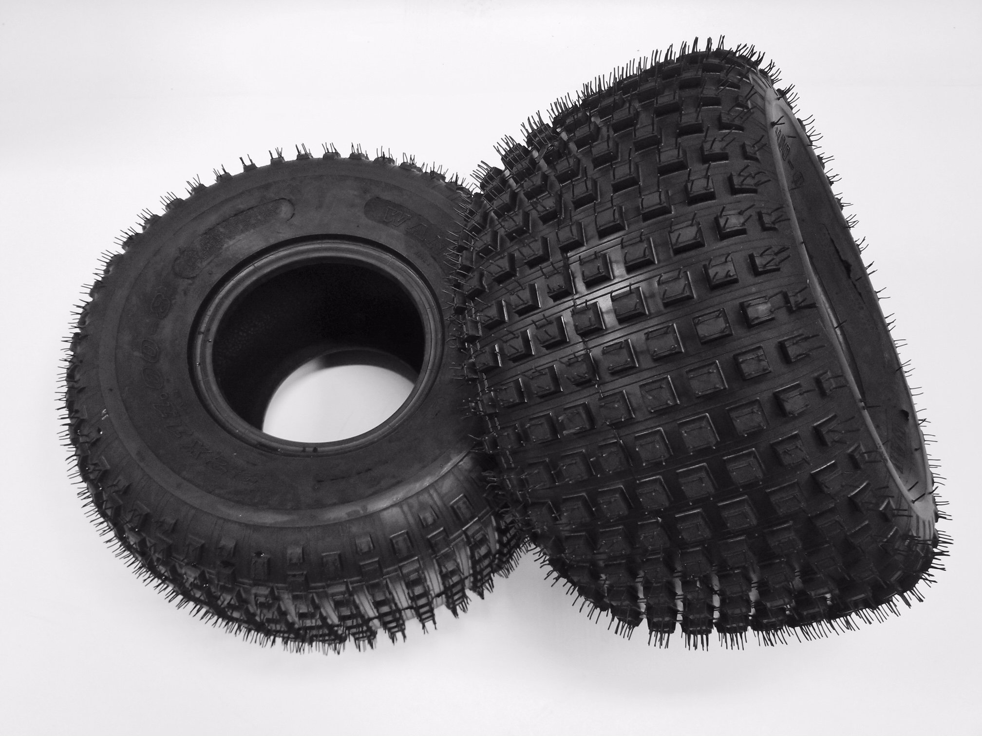 2 New SunF A011 Knobby ATV Tires 22x11-8, 6 PR