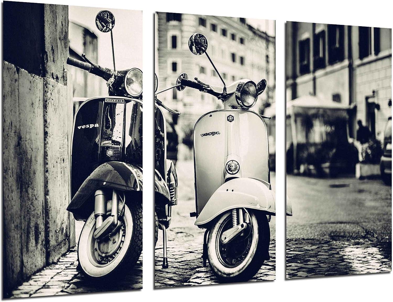 Ref.26307 Vintage Vespa Motorbike Impression sur bois Format XXL 97 x 62 cm