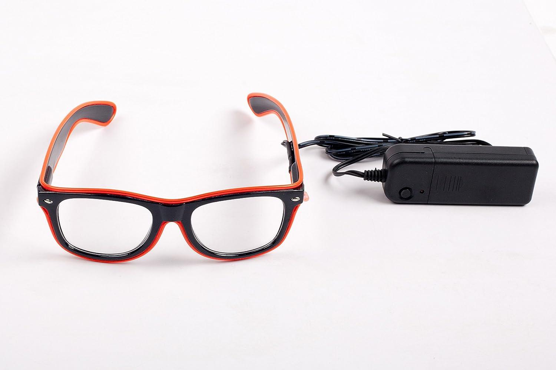 SummitLink Orange Light Up El Wire Glasses Frame
