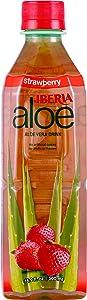 Iberia Aloe Vera Juice Drink, Strawberry, 16.9 Fl Oz (Pack of 24)