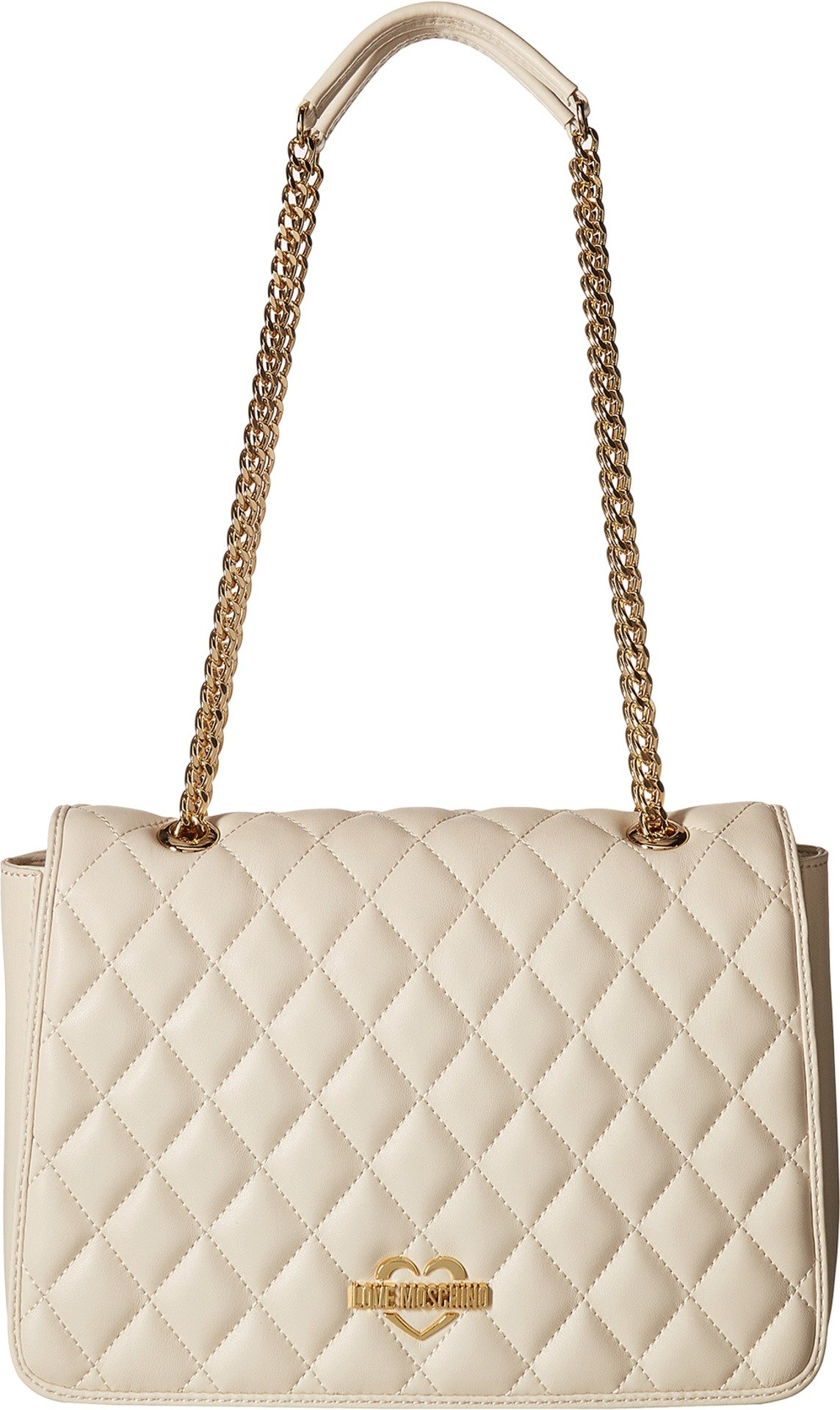 LOVE Moschino Women's Superquilting Shoulder Bag Ivory One Size