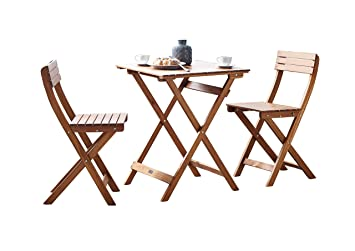 SAM® Conjunto para jardín o balcón, mueble de madera de ...