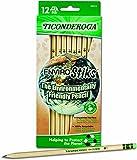 Dixon Ticonderoga EnviroStiks Natural Wood #2 Pencils, Box of 12 (96212)