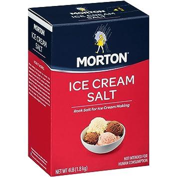 Morton Ice Cream Salt, 4 Pound