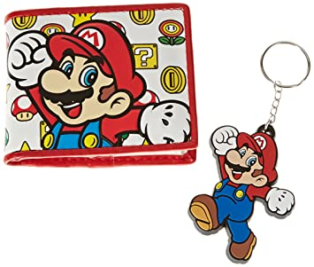 Amazon.com: Nintendo Super Mario Brothers cartera y llavero ...