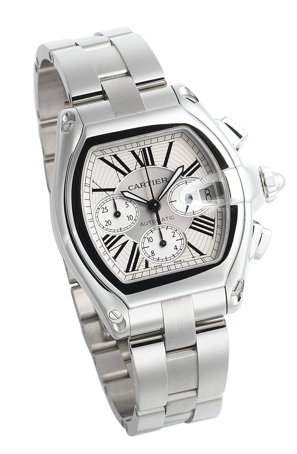 f3207158247 Amazon.com  Cartier Men s W62019X6 Roadster Automatic Chronograph Watch   Cartier  Watches