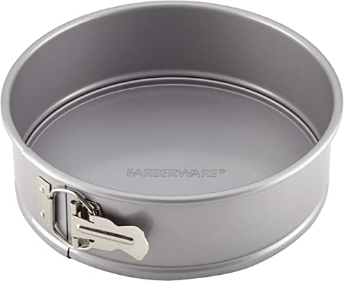 "Farberware 46406 Nonstick Bakeware Round Springform Pan, 9"", Light Gray"
