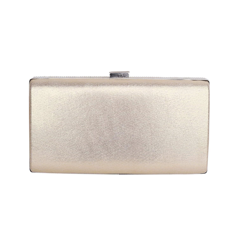 elegante borsetta a righe e strass elegante Pochette da sera da donna con perle di cristallo iXpro