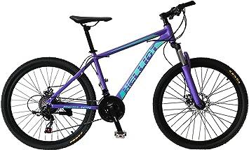 Helliot Bikes Merlion Bicicleta de montaña, Adultos Unisex, Lila, M-L ...