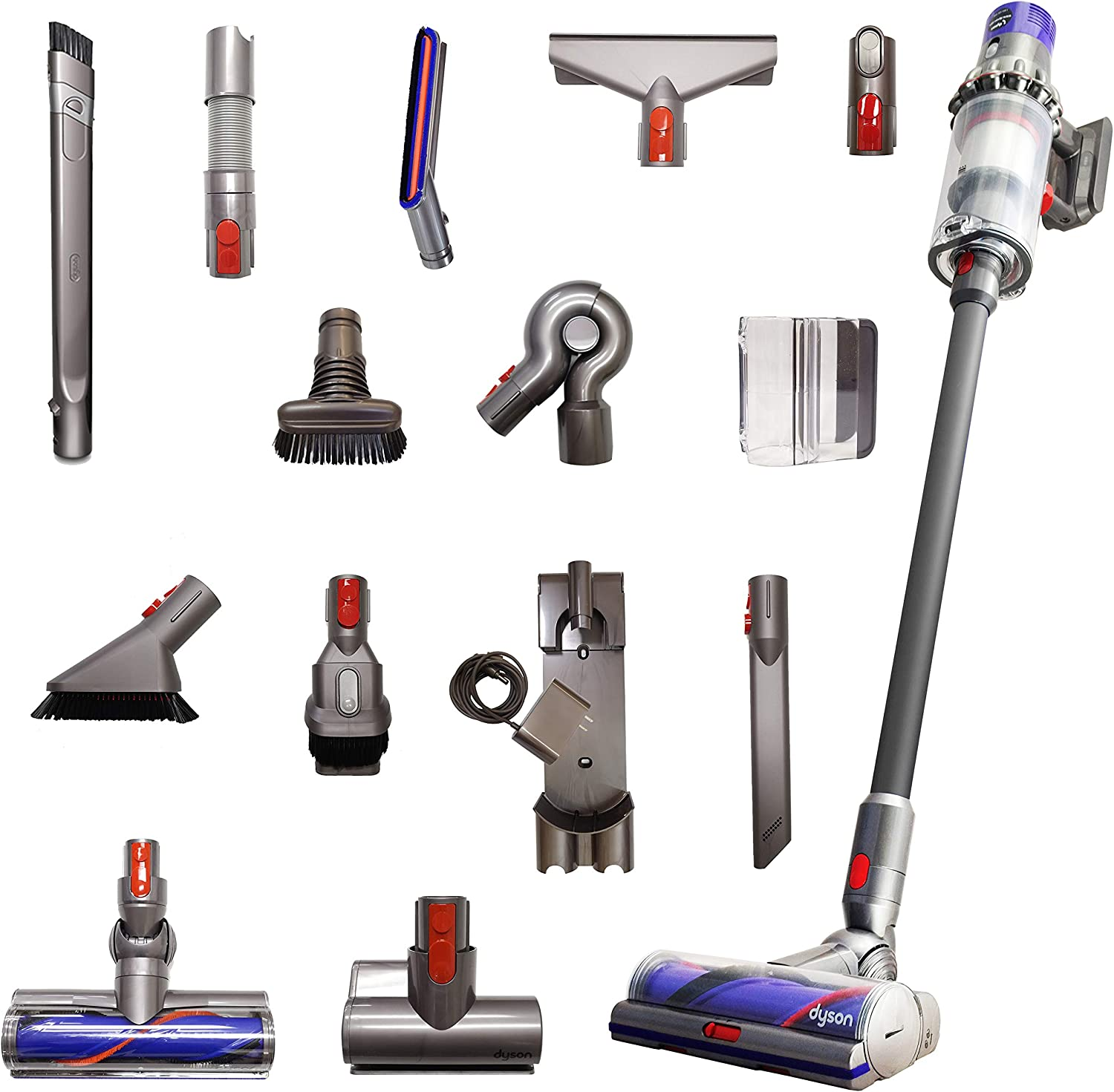Dyson Cyclone V10 Animal Pro with 15 Tools Including Torque Drive Cleaner Head, Mini Motorized Tool and Clean Everywhere Kit, Lightweight Cordless Stick Vacuum Cleaner Cord-Free Powerful Suction, Iron