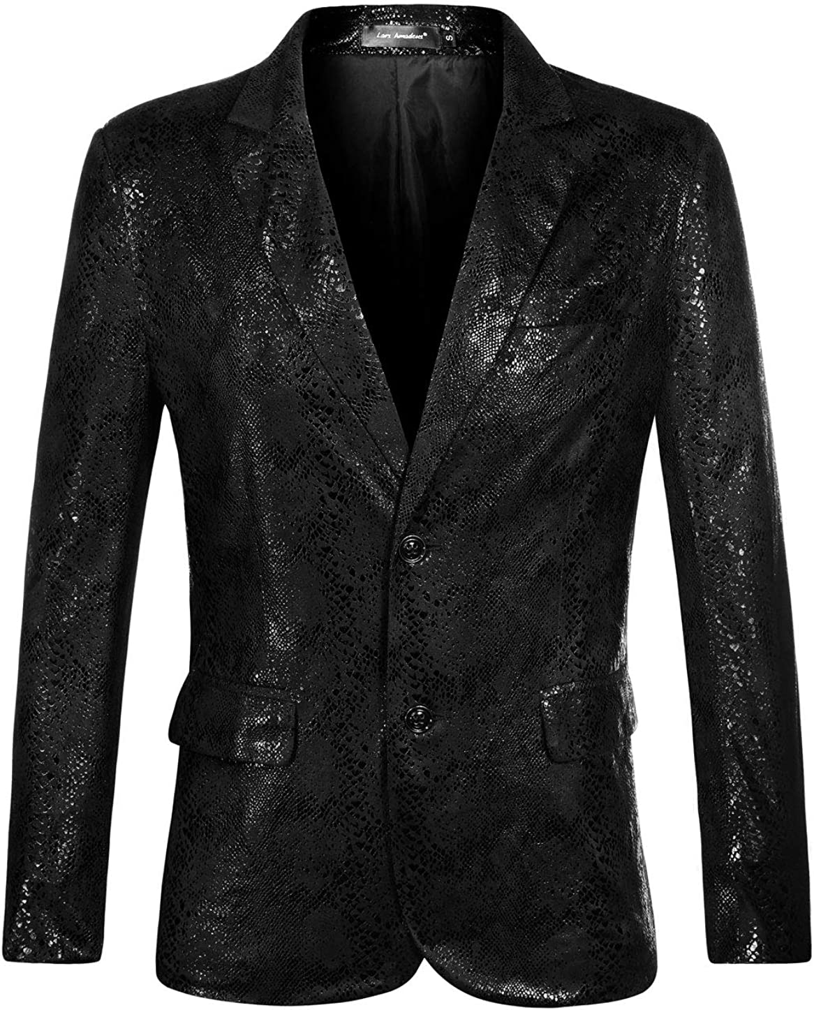 Lars Amadeus Men's Party Animal Print Blazer Notched Lapel Lightweight Sport Coat Suit Jacket
