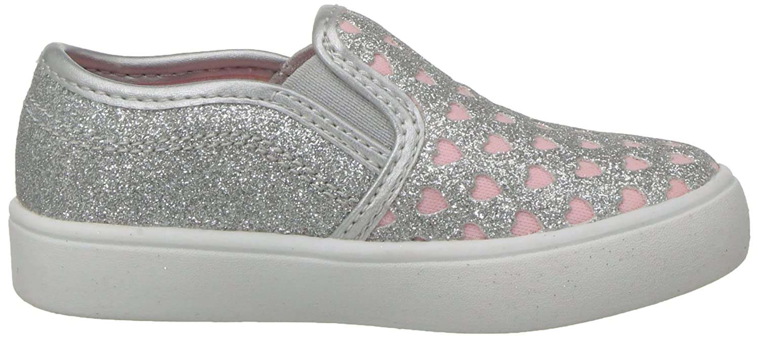 8 M US Toddler Carter/'s TWEEN7 Silver carters Girls Tween Casual Slip-on Sneaker