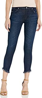 product image for James Jeans Women's Twiggy Ankle Length Skinny Jean in Siren Fringe