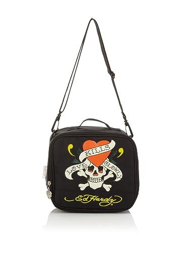 220e2b935f4e Ed Hardy Shal Love Kills Slowly Lunchbox - Black  Amazon.co.uk ...