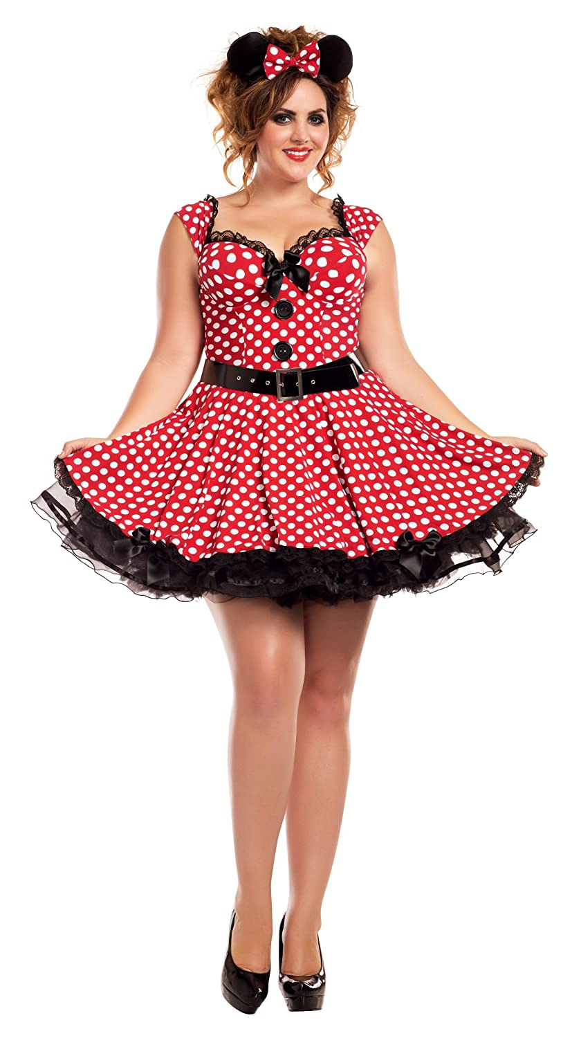 Missy Mouse Plus Size Adult Costume