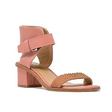 5e454cacffe M4D3 Women s Block Heel Sandal 6 Apricot