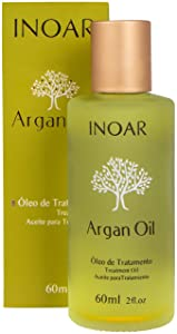 INOAR PROFESSIONAL - Argan Oil - Promotes Hair Control, Prevents and Repairs Split Ends, and Protects Hair From the Effects of Heat Styling Tools (2 Ounces / 60 Milliliters)