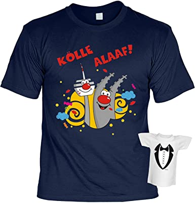 Faschings/Karnevals/Spaß/Fun/Party-Shirt+ Mini-Shirt Rubrik lustige Sprüche:  Kölle Alaaf! lässiger Look: Amazon.de: Bekleidung