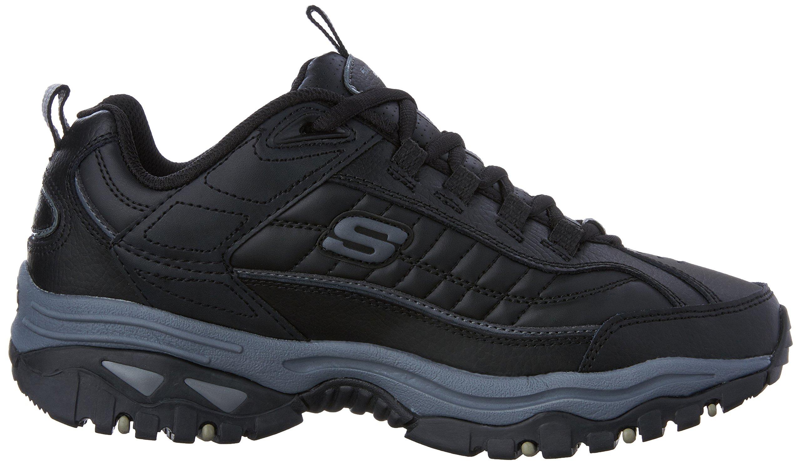 Skechers Men's Energy Afterburn Lace-Up Sneaker,Black/Gray,14 M US by Skechers (Image #7)