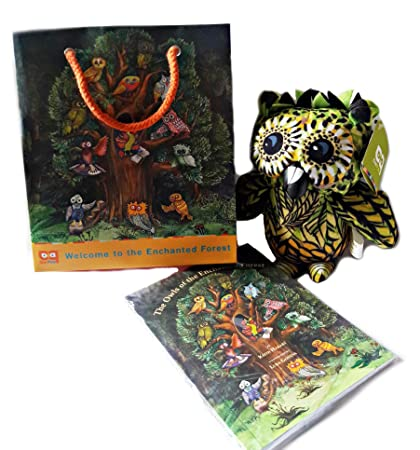 amazon com owl pals from the enchanted forest gift set 6 bean bag