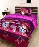 Amayra Home Luxury 3D Cartoon Designer Printed 180TC Polycotton Single Bedsheet with 1 Pillow Cover 60'' X 90''