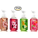 Bath & Body Works Classic Favorites Collection Gentle Foaming Hand Soaps - Warm Vanilla Sugar, Japanese Cherry Blossom, Sweet Pea and Cucumber Melon (Set of 4)