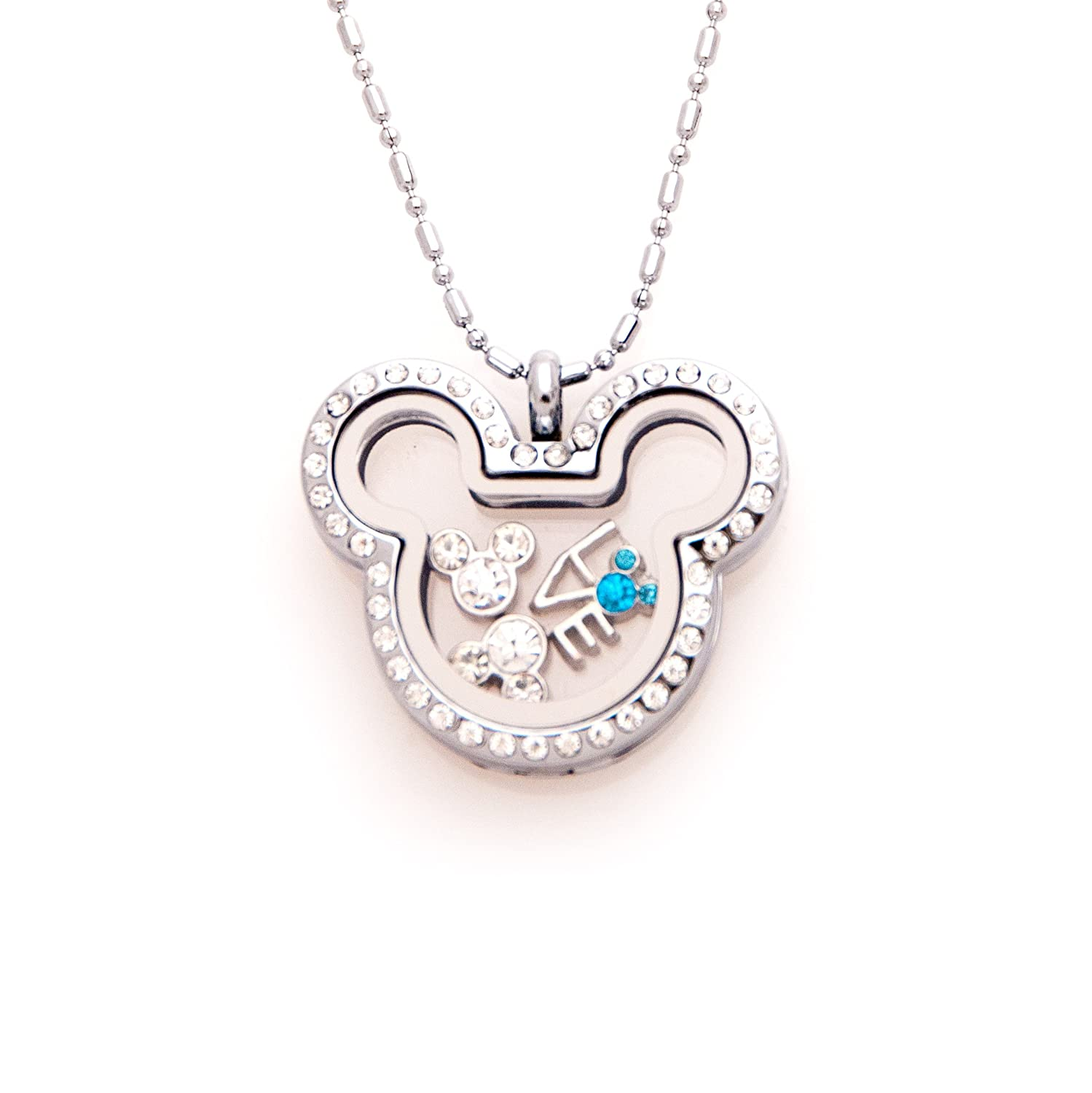Mickey Inspired Floating Charms Locket with Rhinestone Fuller Joy TM-V2SI-8TIT_Parent