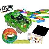 ファントラックス【カー グリーン 緑】FunTracks レーシングカー 光る車と光るレール カーレース レースカー ファントラック 正規品